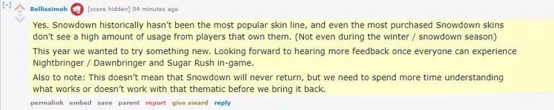 拳头设计师透露:今年不再推出冰雪节系列皮肤